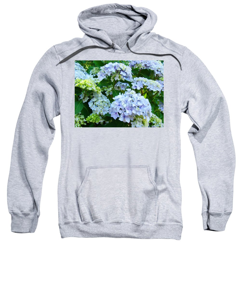 Landscape Sweatshirt featuring the photograph Hydrangea Garden Landscape Flower Art Prints Baslee Troutman by Baslee Troutman