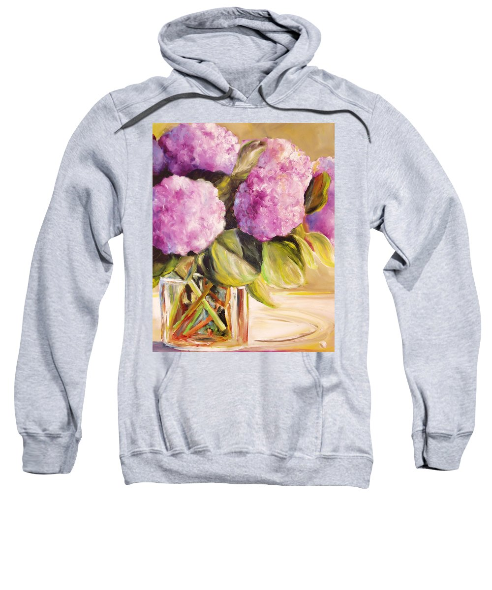 Hydrangea Sweatshirt featuring the painting Hydrangea Heaven by Toni Grote