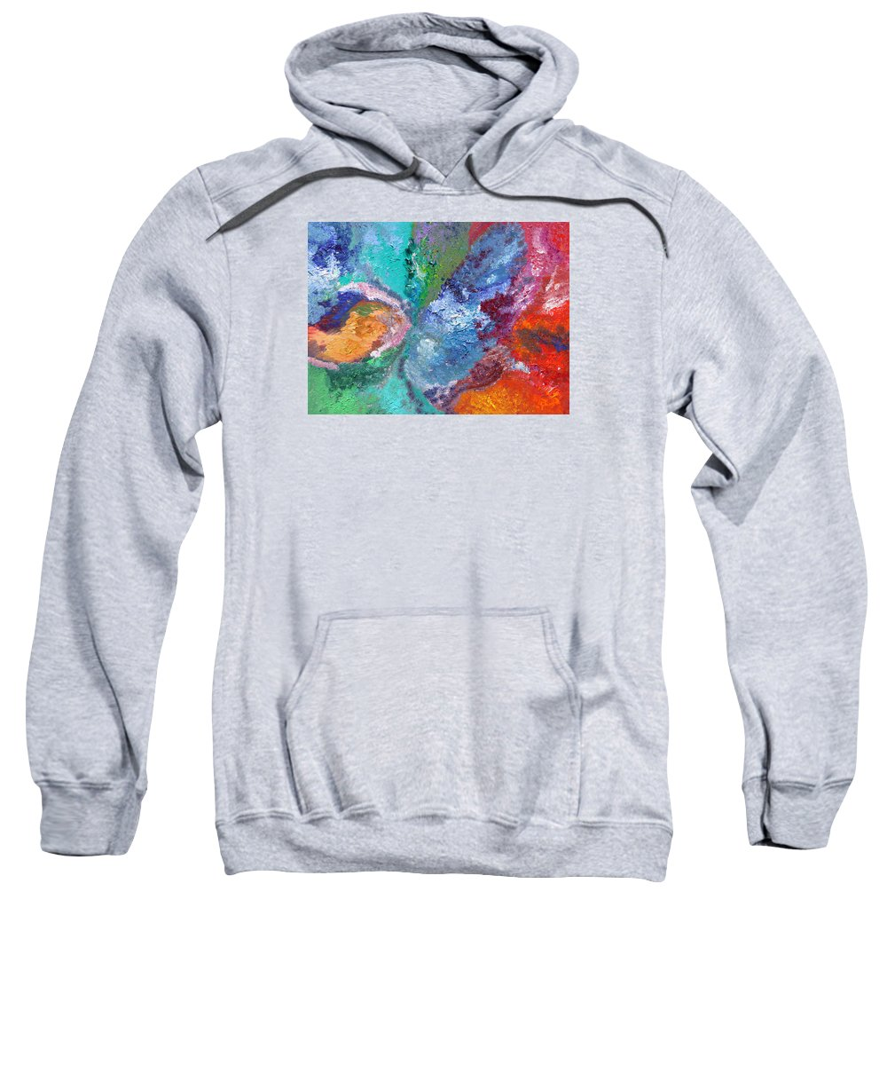 Fusionart Sweatshirt featuring the painting Hydrangea by Ralph White