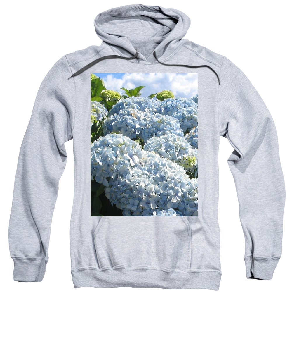 Blue Hydrangea Sweatshirt featuring the photograph Hydrangeas by Valerie Josi