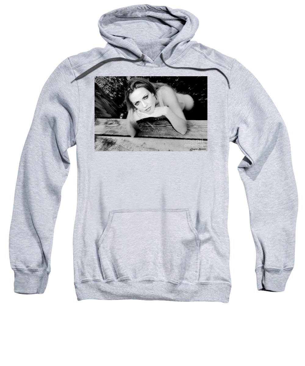 Clay Sweatshirt featuring the photograph Hypnotic Eyes by Clayton Bruster