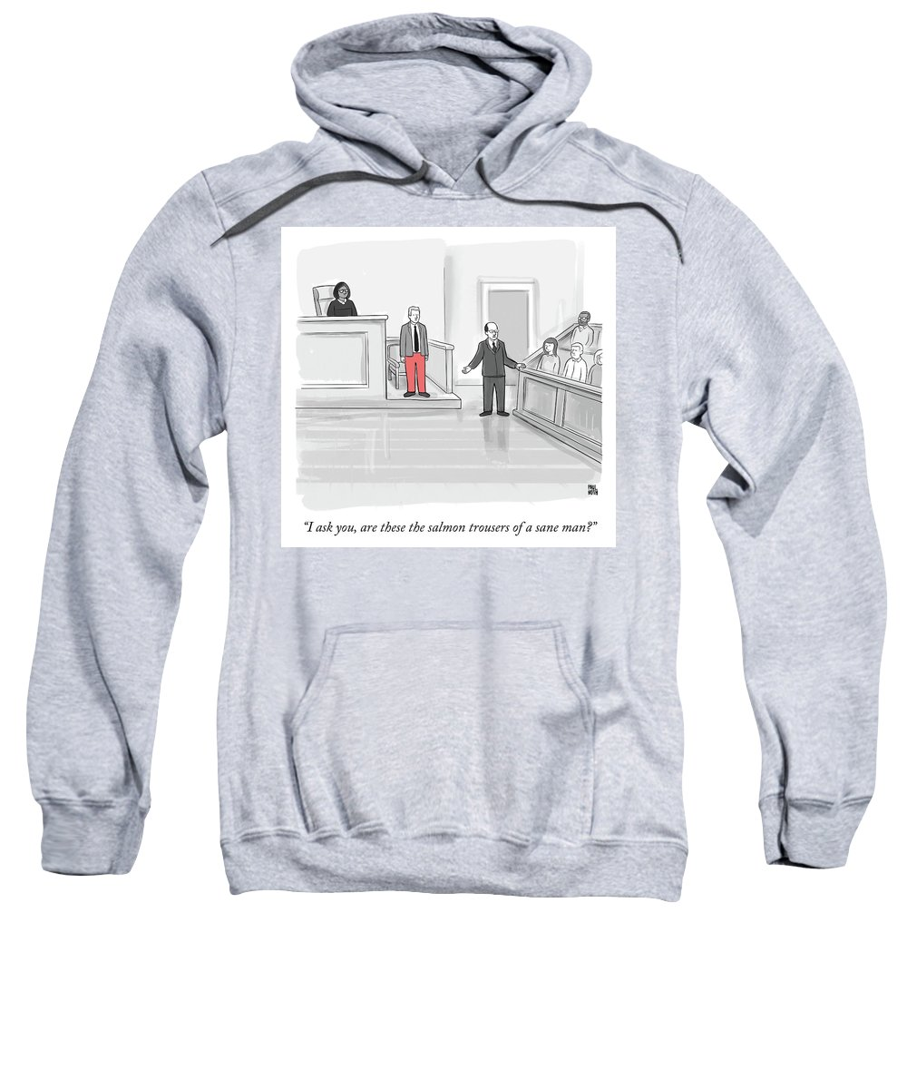 """i Ask You Sweatshirt featuring the drawing I ask you by Paul Noth"