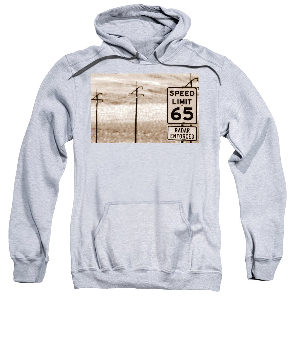 Desert Sweatshirt featuring the photograph I Can't Drive 55 by Ed Smith