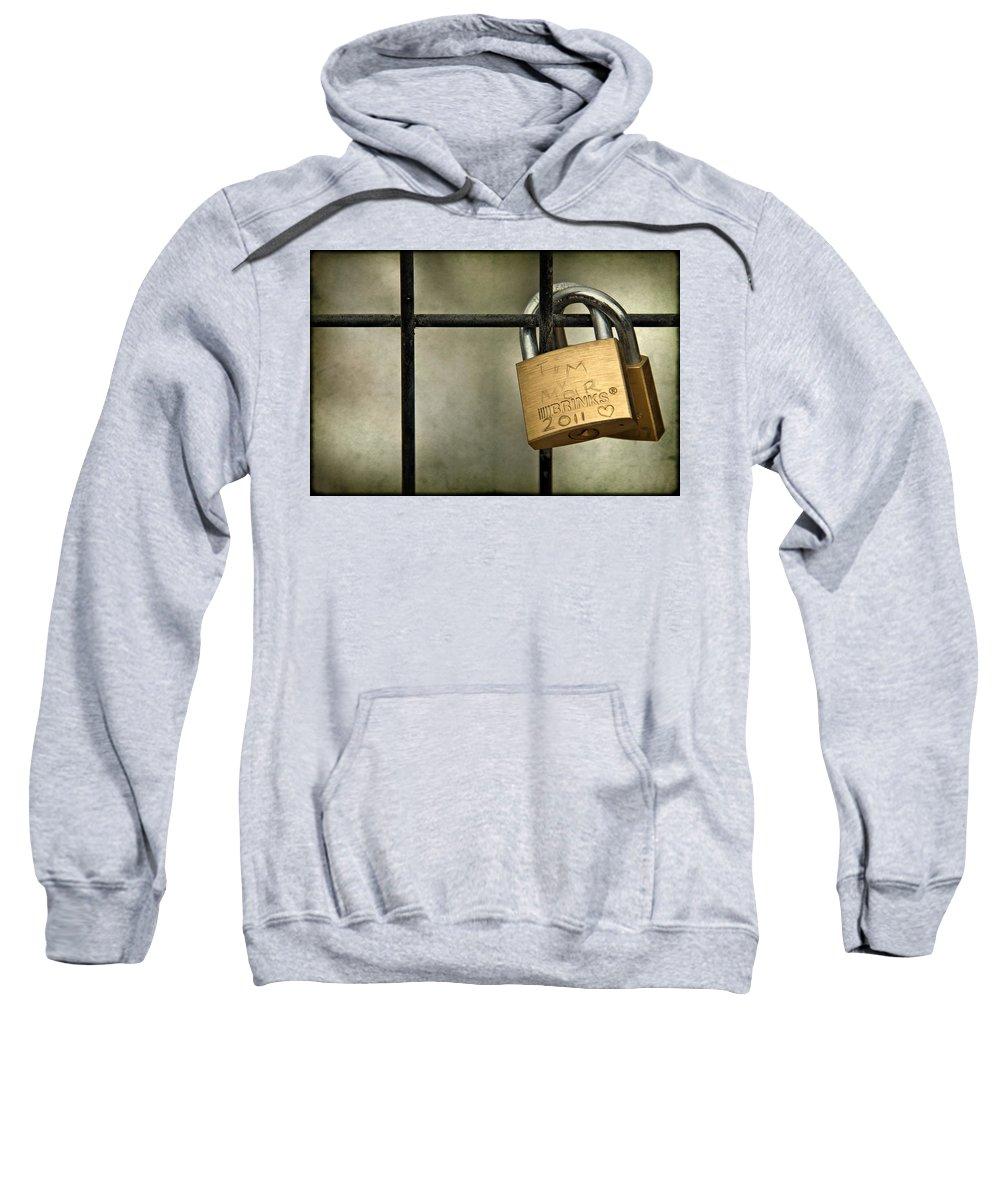 Lock Sweatshirt featuring the photograph I Got You Babe by Evelina Kremsdorf