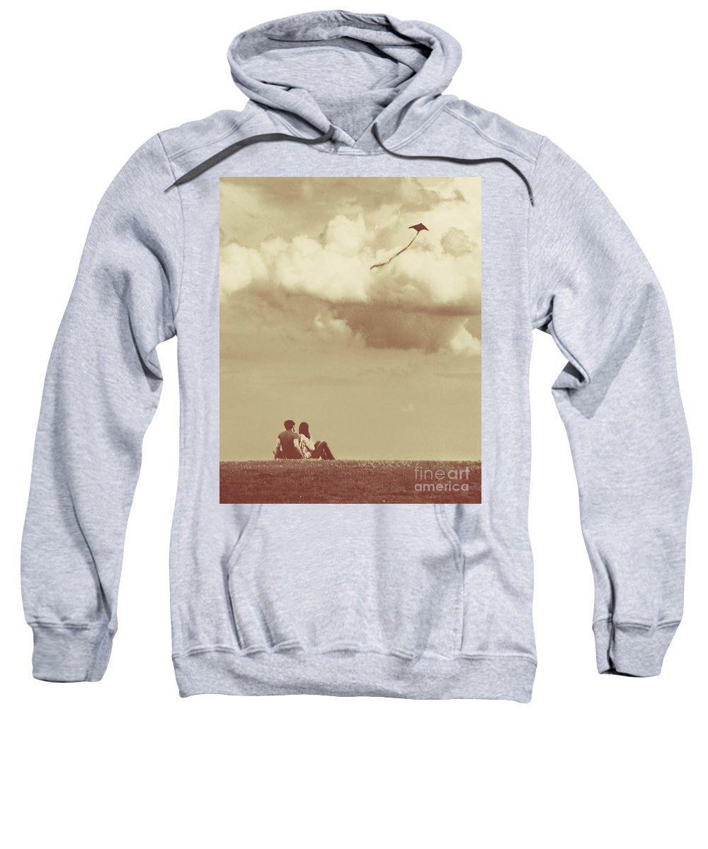 Dipasquale Sweatshirt featuring the photograph I Had A Dream I Could Fly From The Highest Swing by Dana DiPasquale
