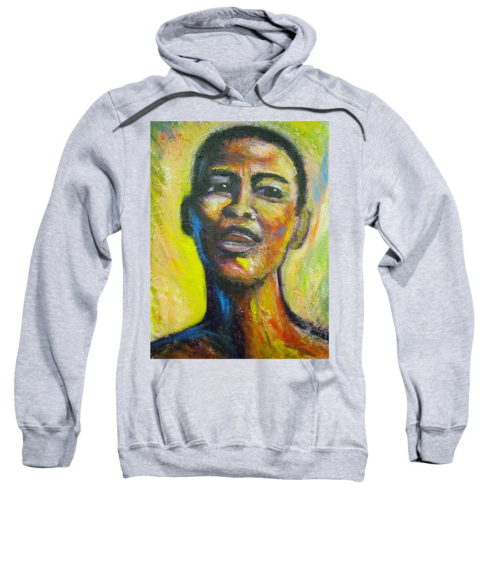 Intensity Sweatshirt featuring the painting I by Jan Gilmore