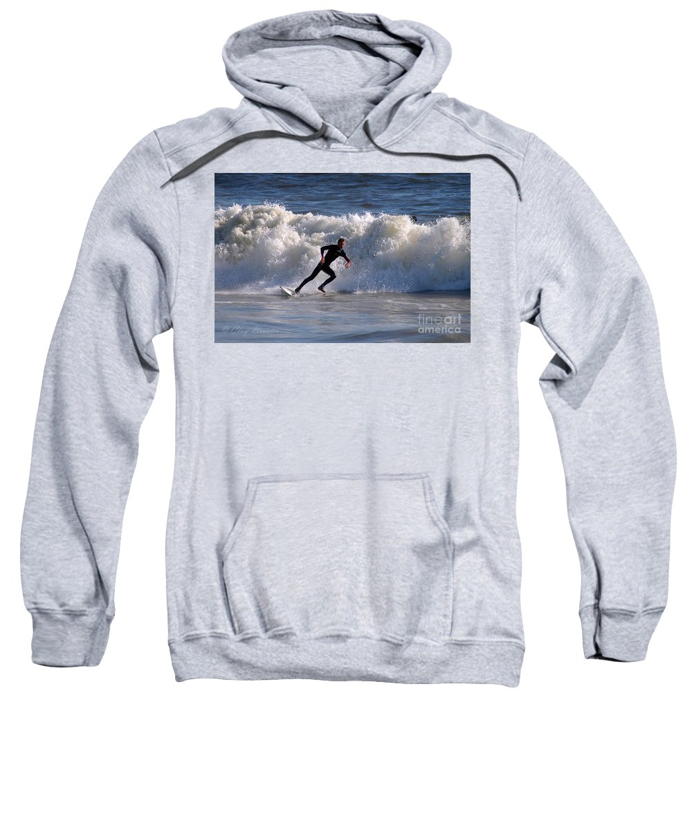 Clay Sweatshirt featuring the photograph I Quit by Clayton Bruster