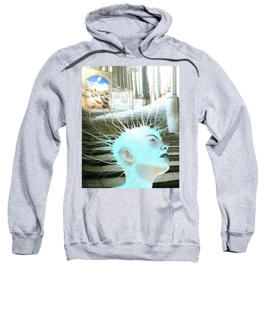 Thoughts Stairs Energy Space Sweatshirt featuring the digital art I by Veronica Jackson