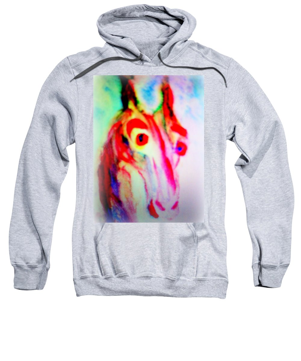 Fields Sweatshirt featuring the photograph I Wanna Tell You A Secret But I Don't Dare To by Hilde Widerberg