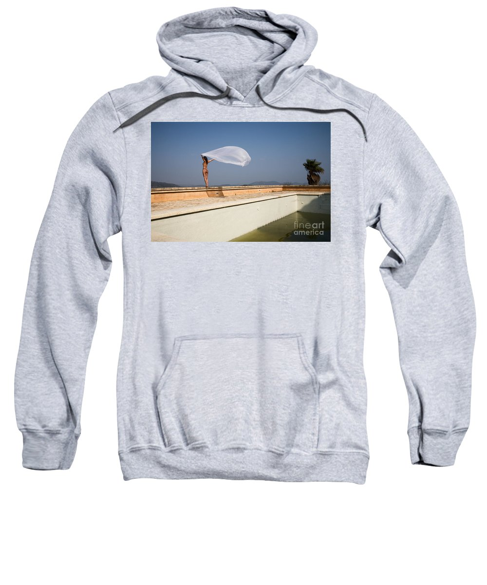 Sensual Sweatshirt featuring the photograph I Will Fly To You by Olivier De Rycke