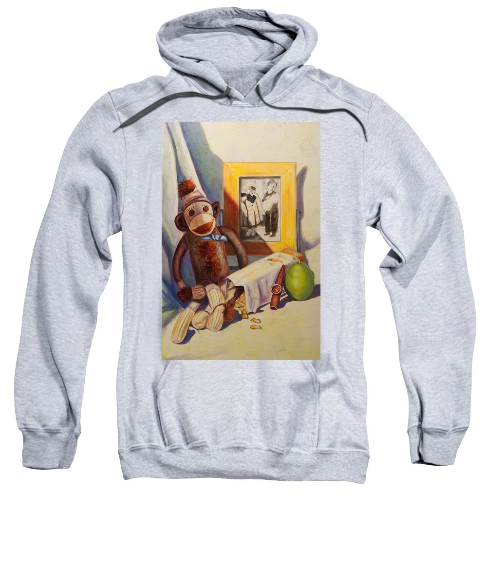 Children Sweatshirt featuring the painting I Will Remember You by Shannon Grissom
