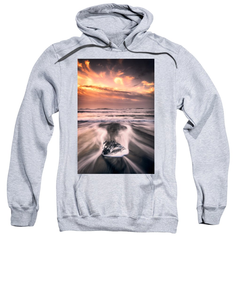 Landscape Sweatshirt featuring the photograph Ice And Fire by Mikkel Beiter