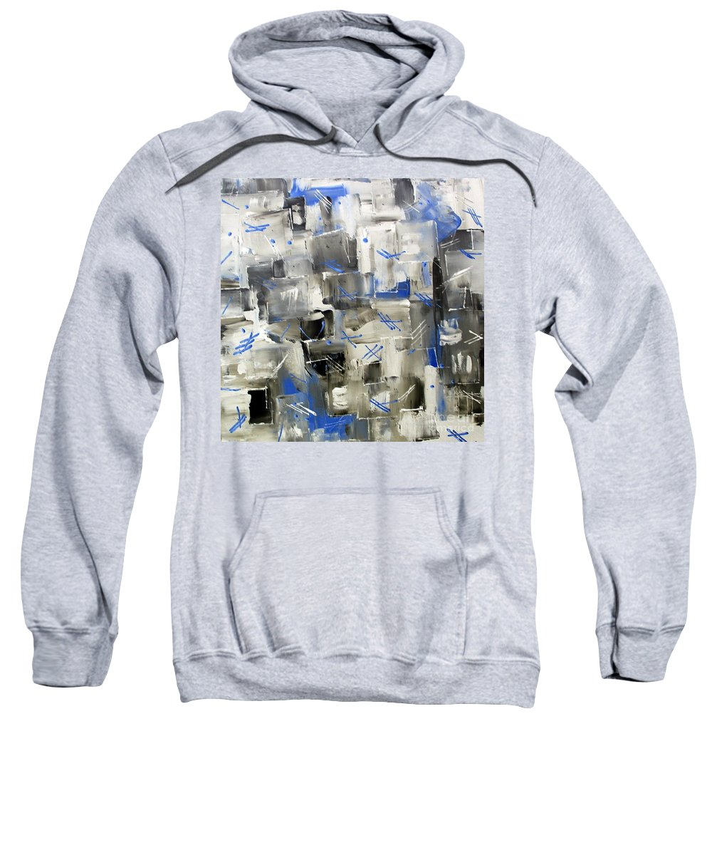 Blue Ice Sweatshirt featuring the painting Ice Blue by Dawn Hough Sebaugh