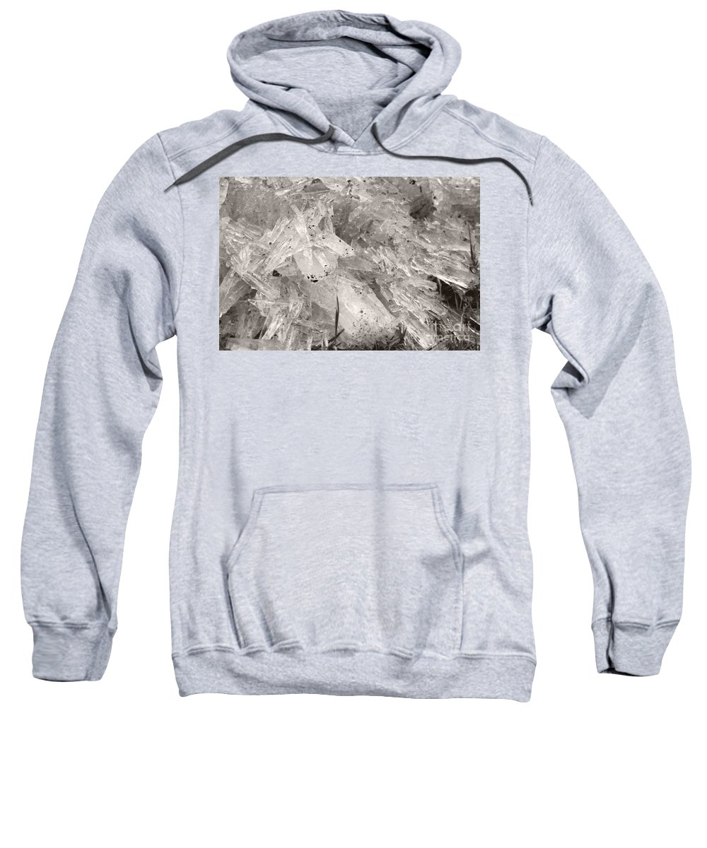 Sweatshirt featuring the photograph Ice Crystals by Heather Kirk