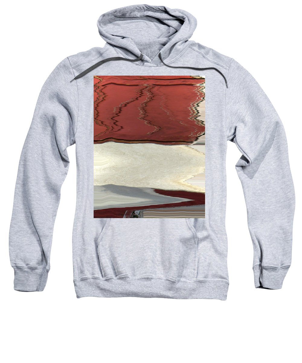 Abstract Sweatshirt featuring the digital art Ice To Earth Abstract by Lenore Senior