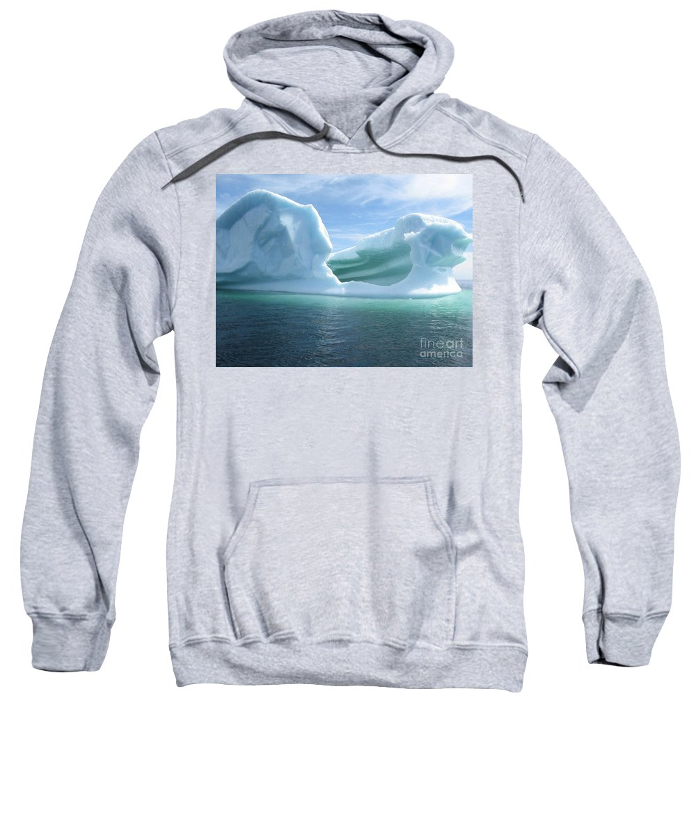 Photograph Iceberg Ocean Summer Newfoundland Sweatshirt featuring the photograph Iceberg by Seon-Jeong Kim