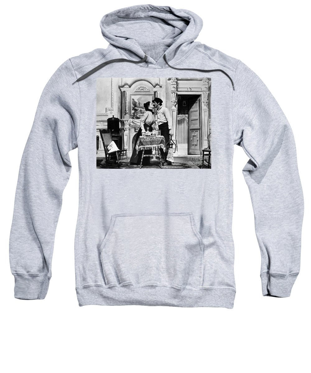 1905 Sweatshirt featuring the photograph Iceman, C1905 by Granger