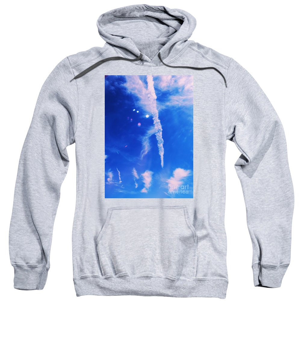 Cloud Photography Surreal Photography Abstract Photography Sky Photography Aerial Photography Whimsical Photography Natural Photography Metal Frame Highly Suggested Sweatshirt featuring the photograph Icicle Clouds 1 by Marcus Dagan