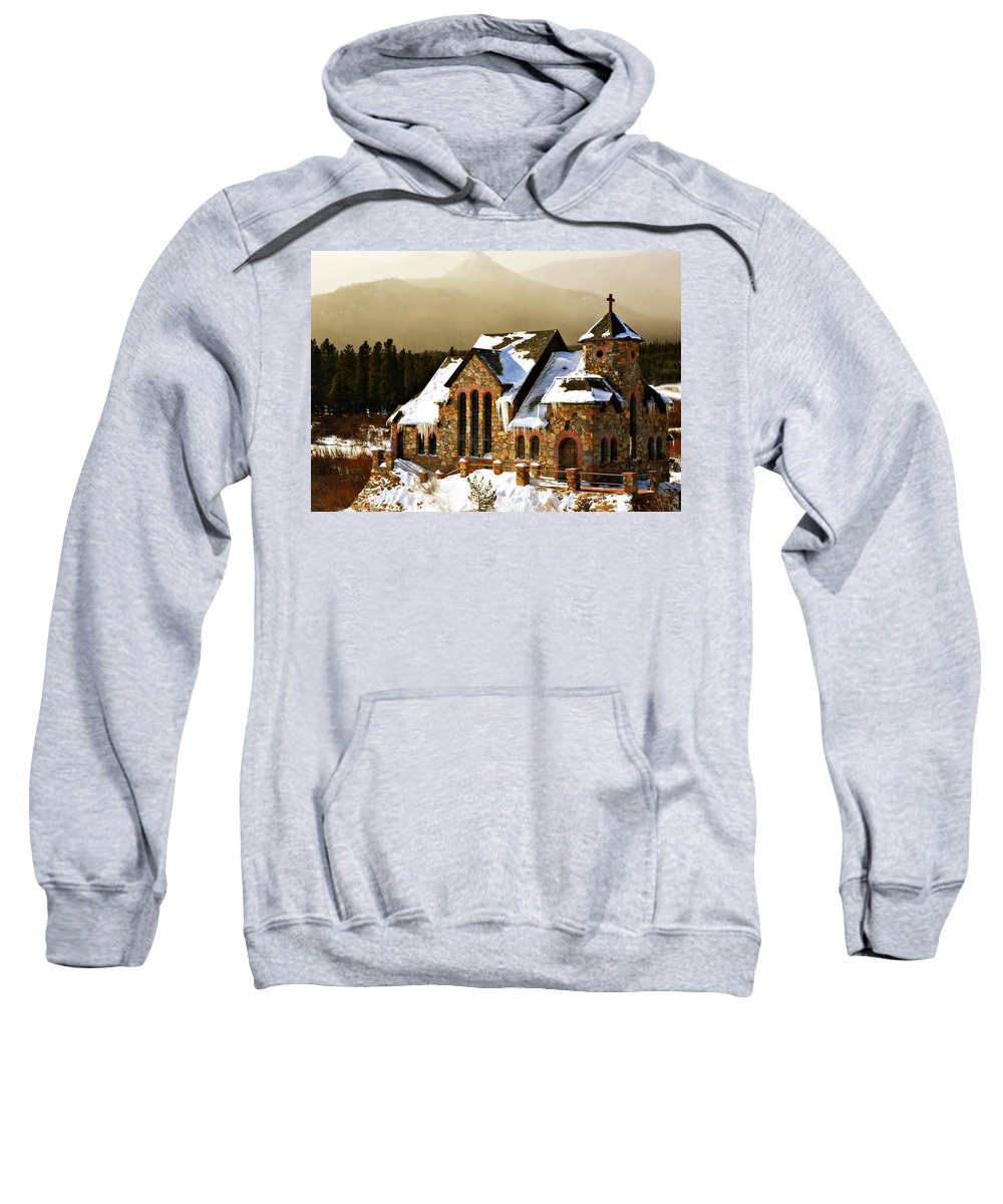 Americana Sweatshirt featuring the photograph Icicles by Marilyn Hunt
