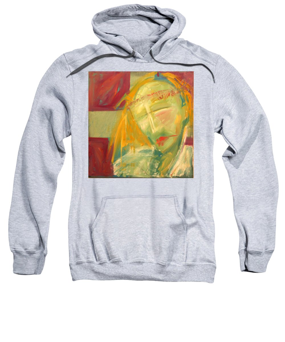 Christ Sweatshirt featuring the greeting card Icon Number Ten by Tim Nyberg
