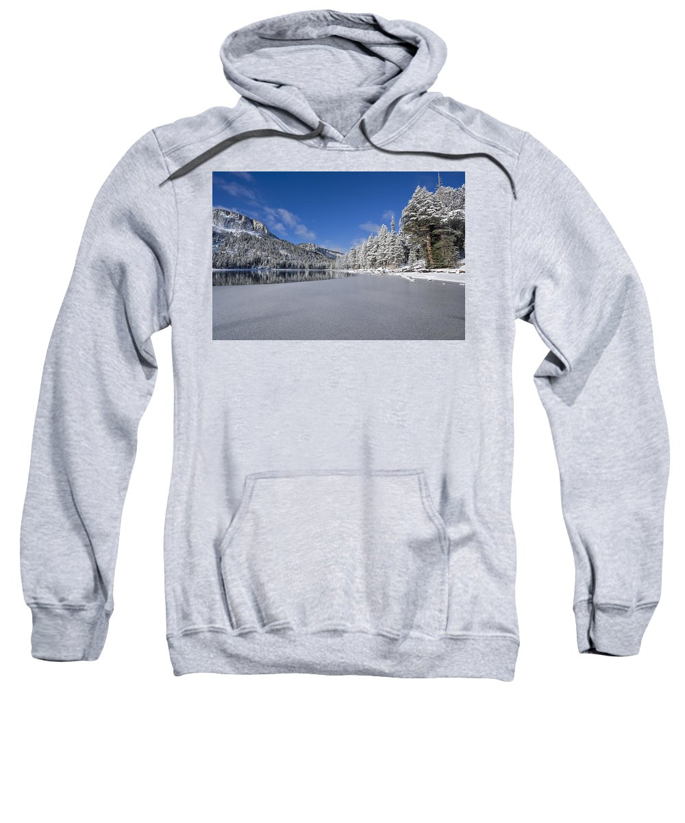 Water Sweatshirt featuring the photograph Icy Cold by Kelley King