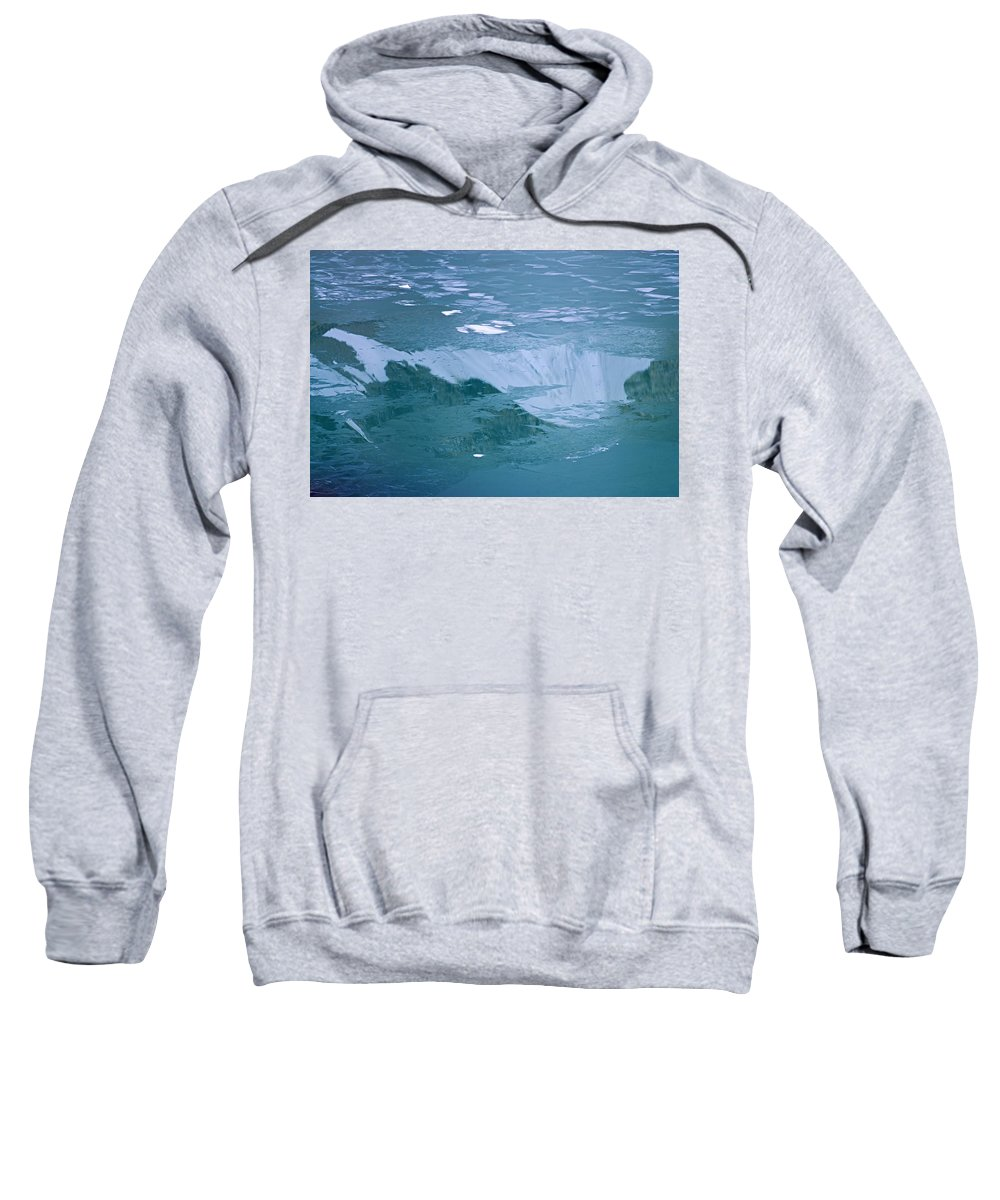 Jasper National Park Sweatshirt featuring the photograph Icy Reflection by Larry Ricker