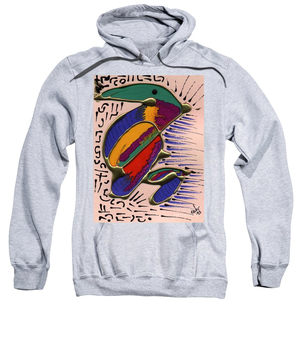 Abstract Sweatshirt featuring the painting If Only I Could Fly by Angela L Walker