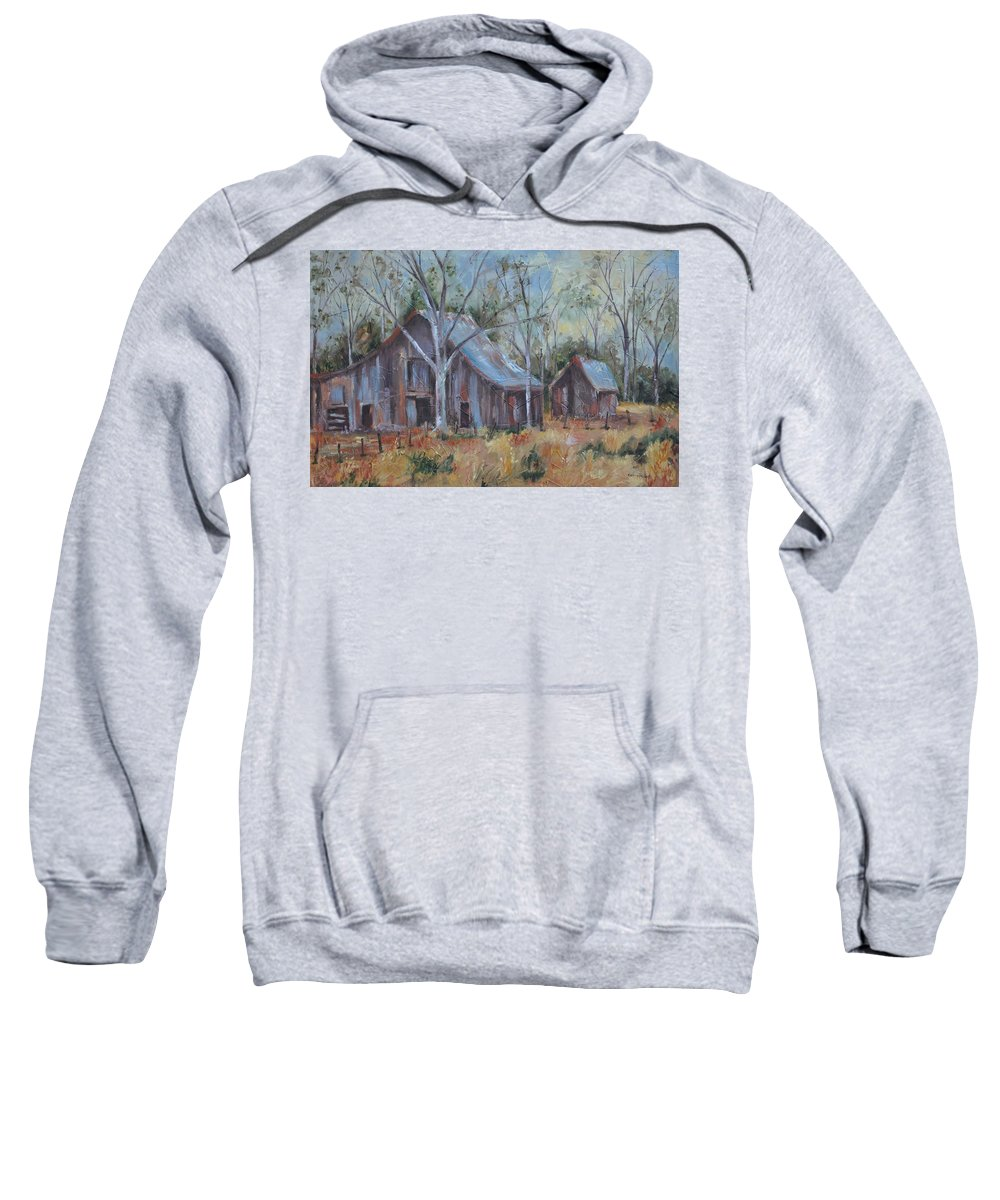 Barns Sweatshirt featuring the painting If They Could Speak by Ginger Concepcion