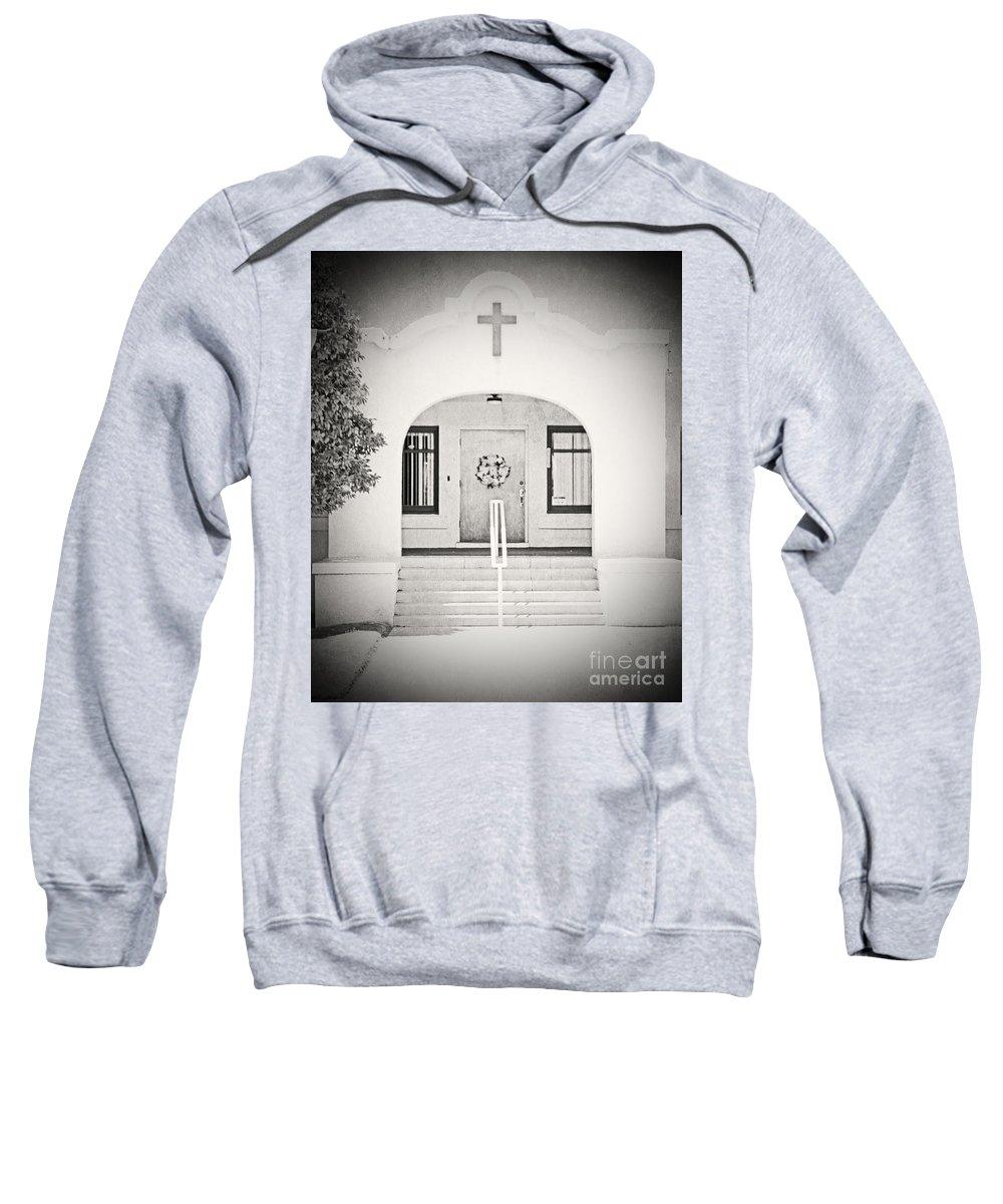 Black & White Sweatshirt featuring the photograph Iglesia Encantada by Edmund Mazzola