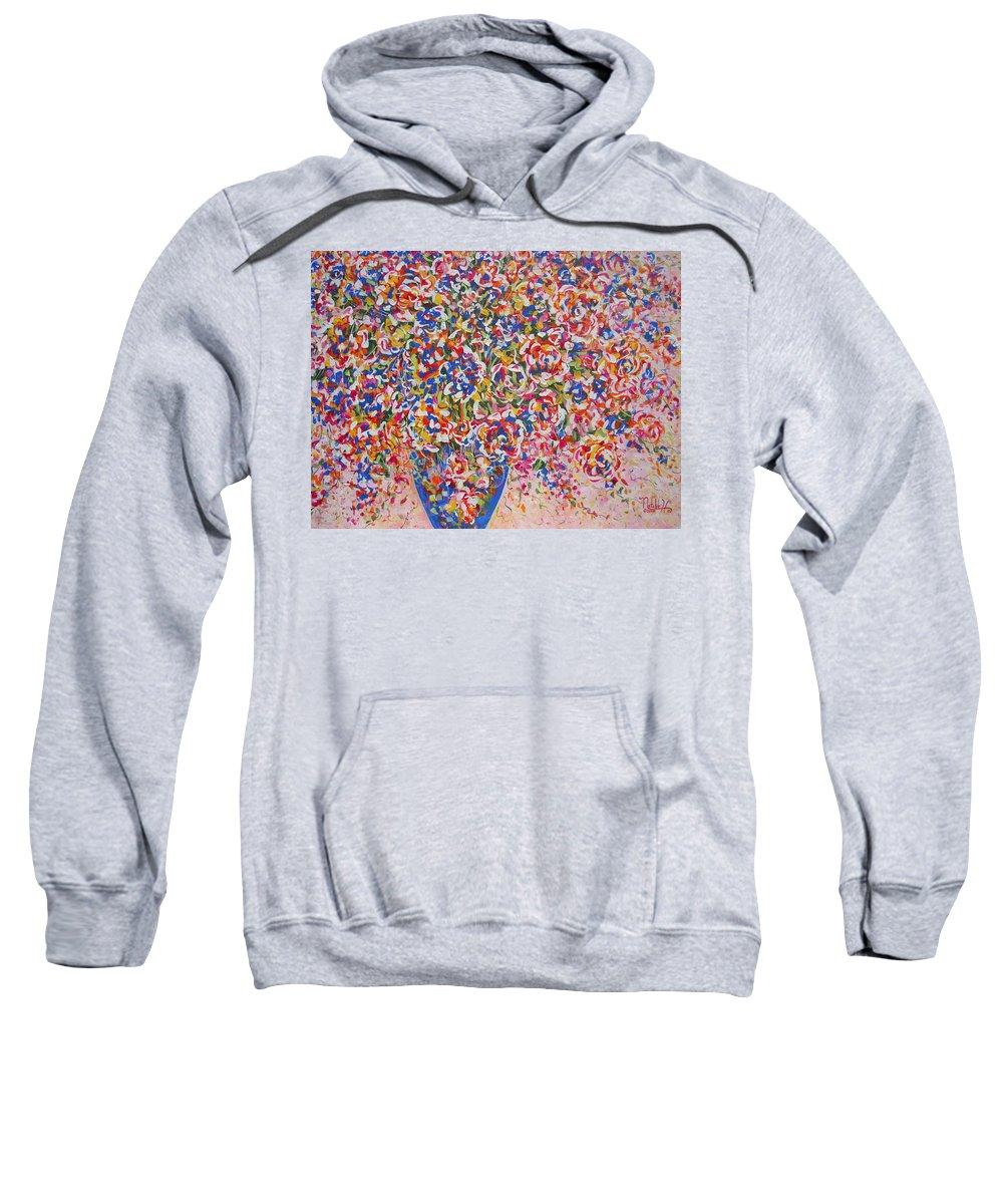 Flowers Sweatshirt featuring the painting Illumination by Natalie Holland