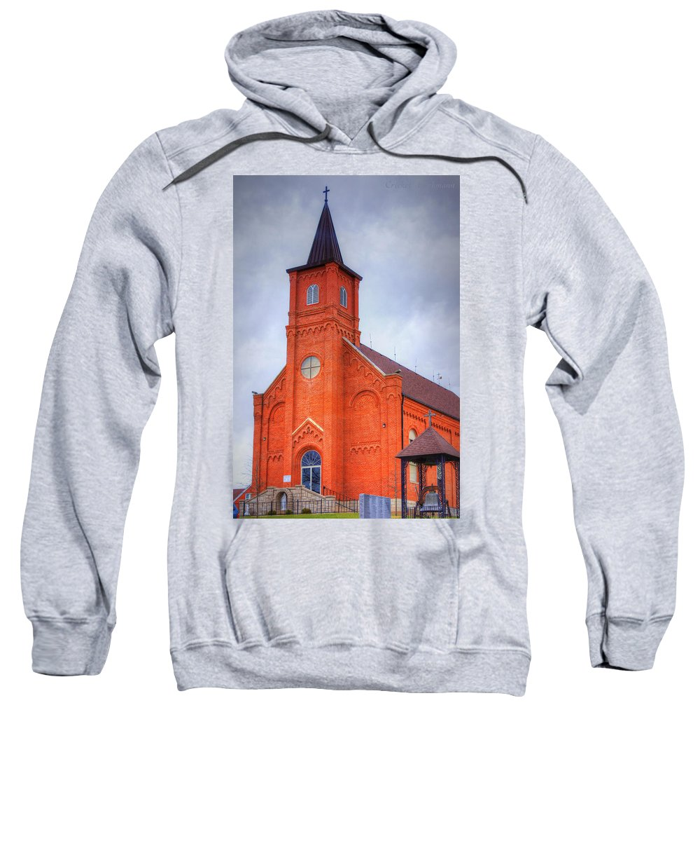 Church Sweatshirt featuring the photograph Immaculate Conception Catholic Church by Cricket Hackmann