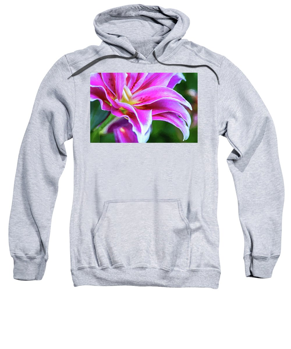 Bolton Sweatshirt featuring the photograph Immerse Yourself - Paint by Steve Harrington