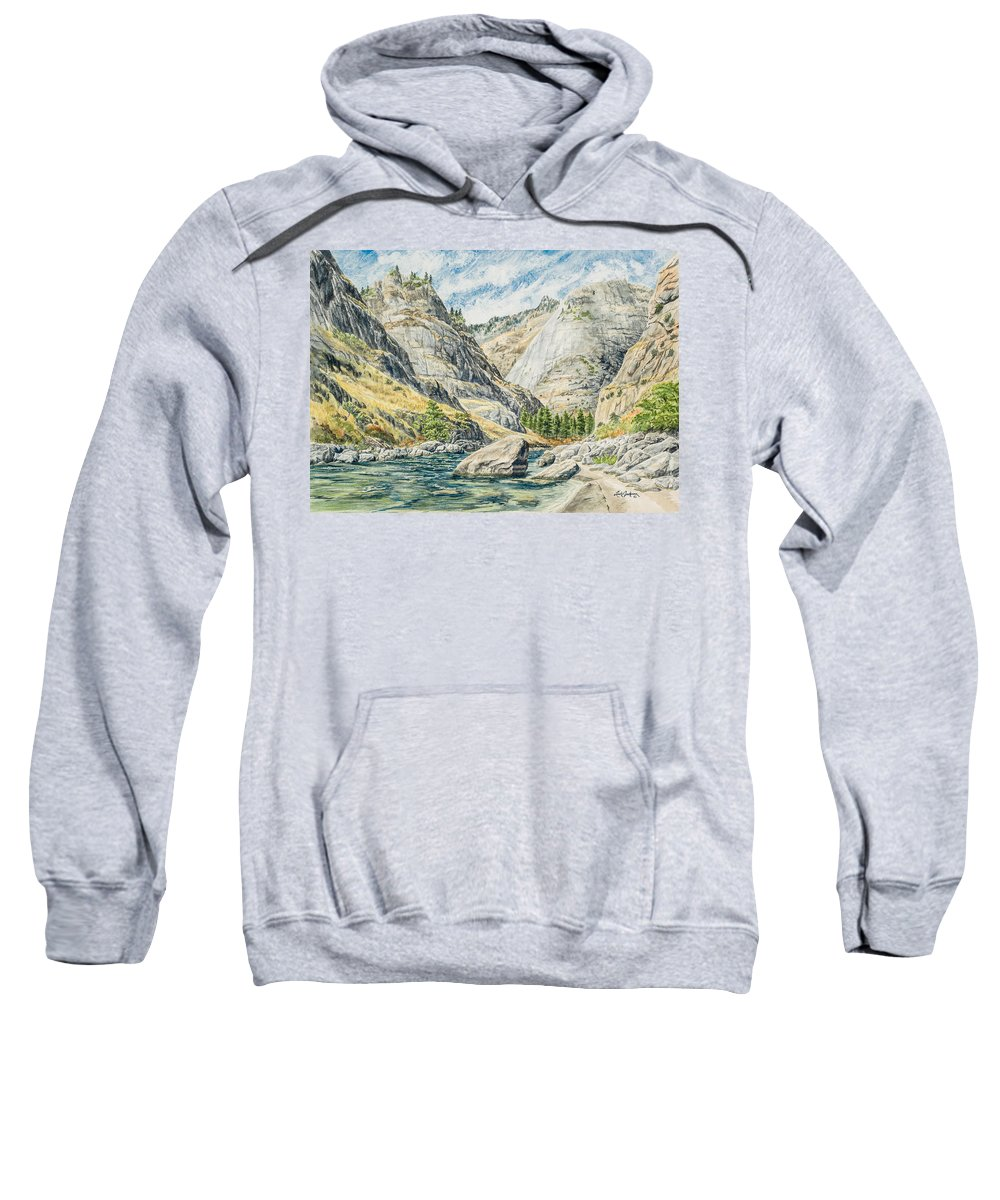 Canyon Sweatshirt featuring the painting Impassable Canyon by Link Jackson