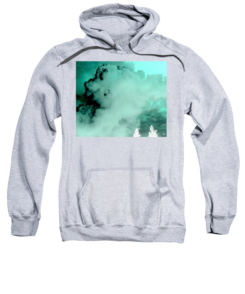 Impressions Sweatshirt featuring the digital art Impressions 10 by Will Borden