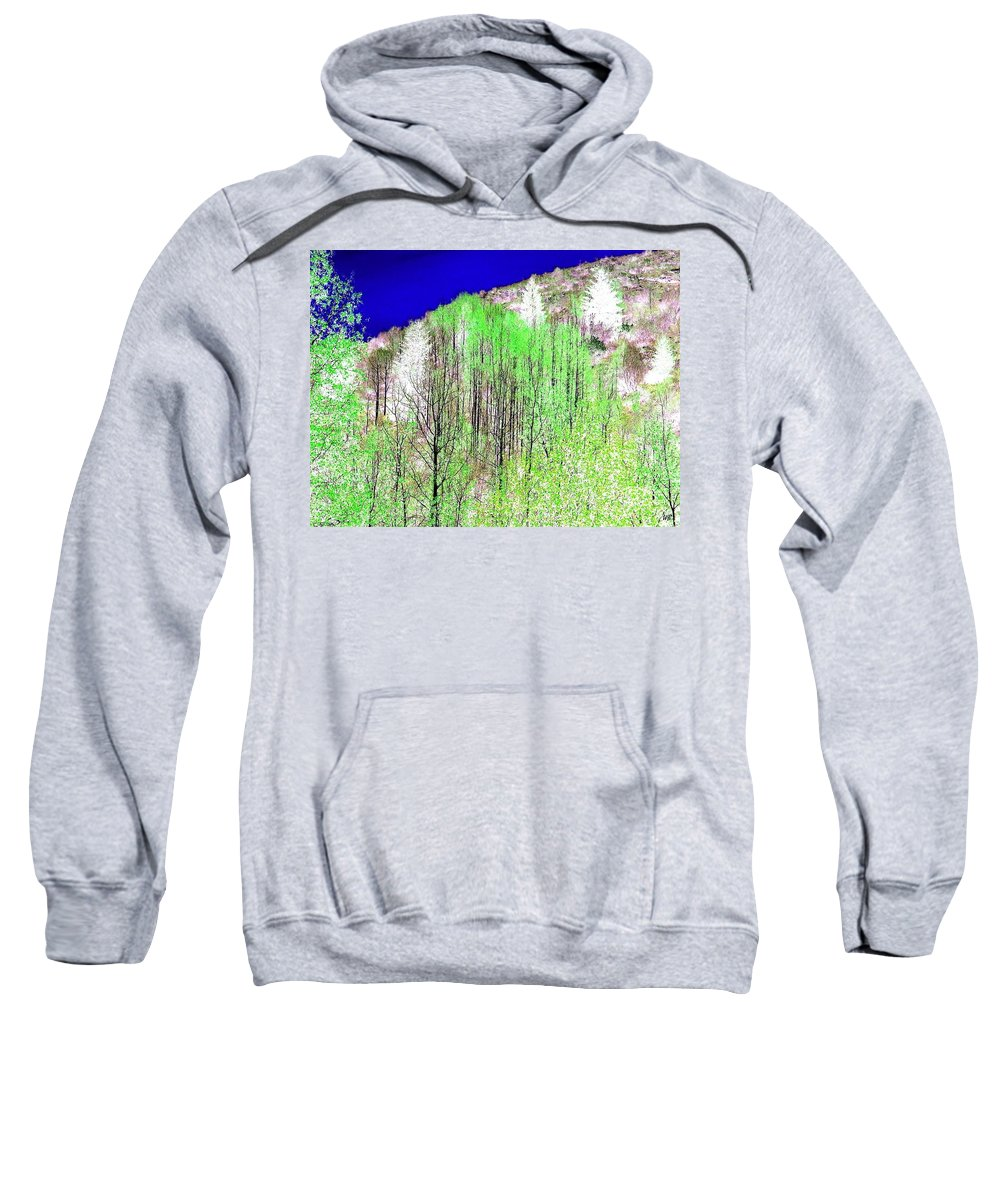 Impressions Sweatshirt featuring the digital art Impressions 12 by Will Borden