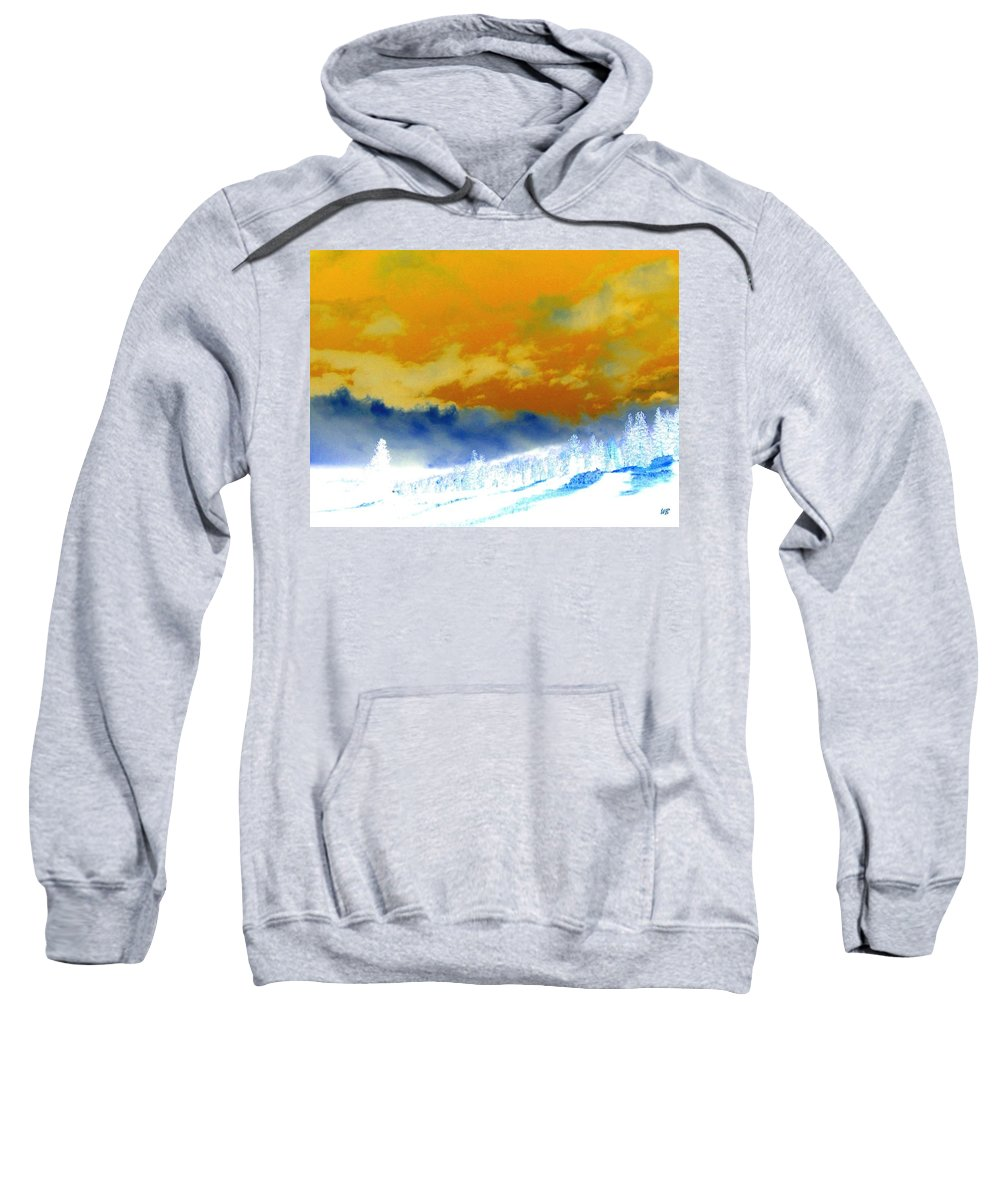 Impressions Sweatshirt featuring the digital art Impressions 2 by Will Borden