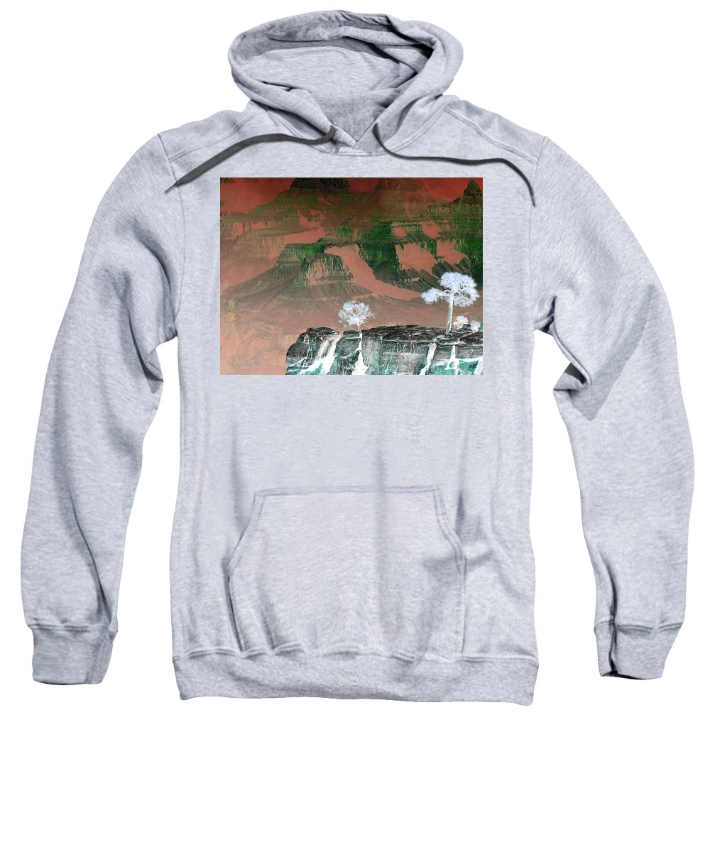 Impressions Sweatshirt featuring the digital art Impressions 8 by Will Borden