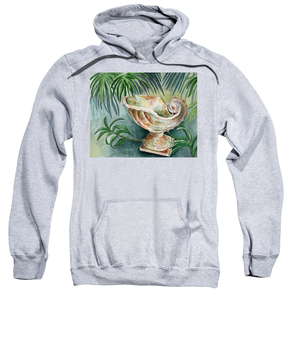 Still Life Sweatshirt featuring the painting In A Tropical Garden by Brenda Owen