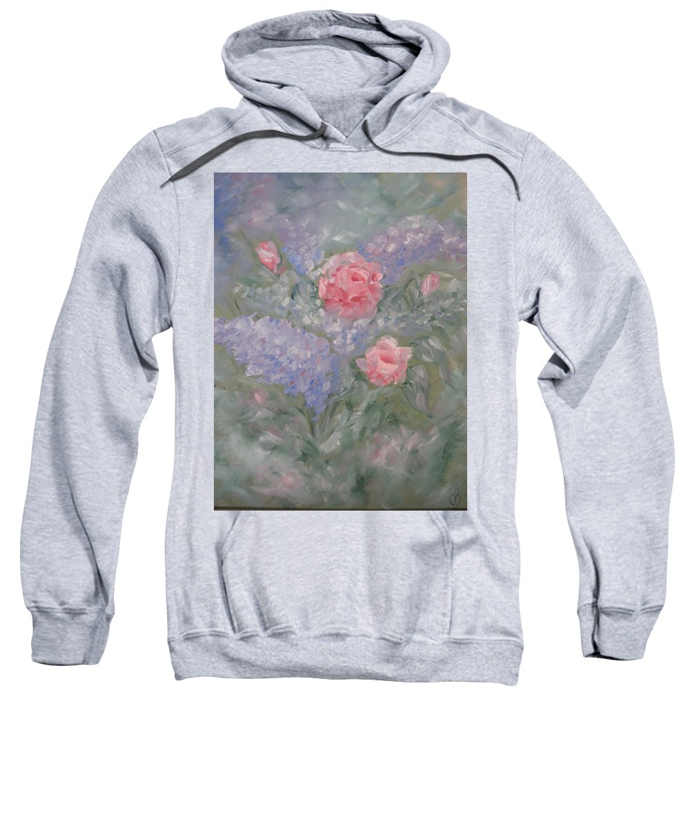 Flowers Sweatshirt featuring the painting In Bloom by Carrie Mayotte