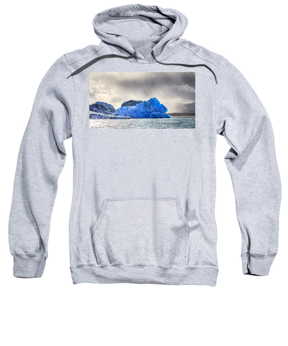 Europe Sweatshirt featuring the photograph In Blue by Alexey Stiop