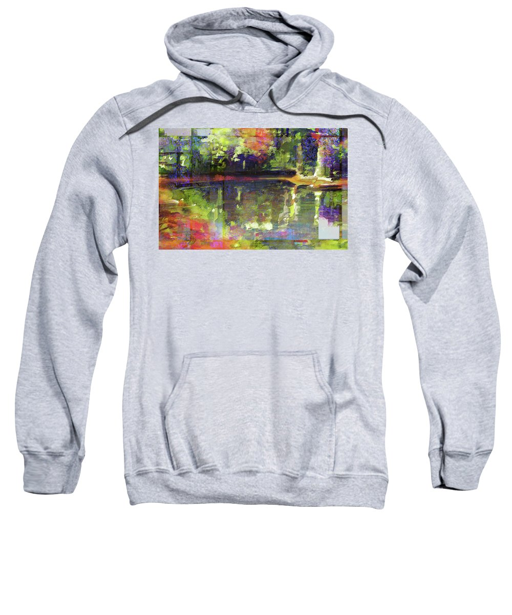 Nature Sweatshirt featuring the painting In Love With Patterns by Allison Ashton
