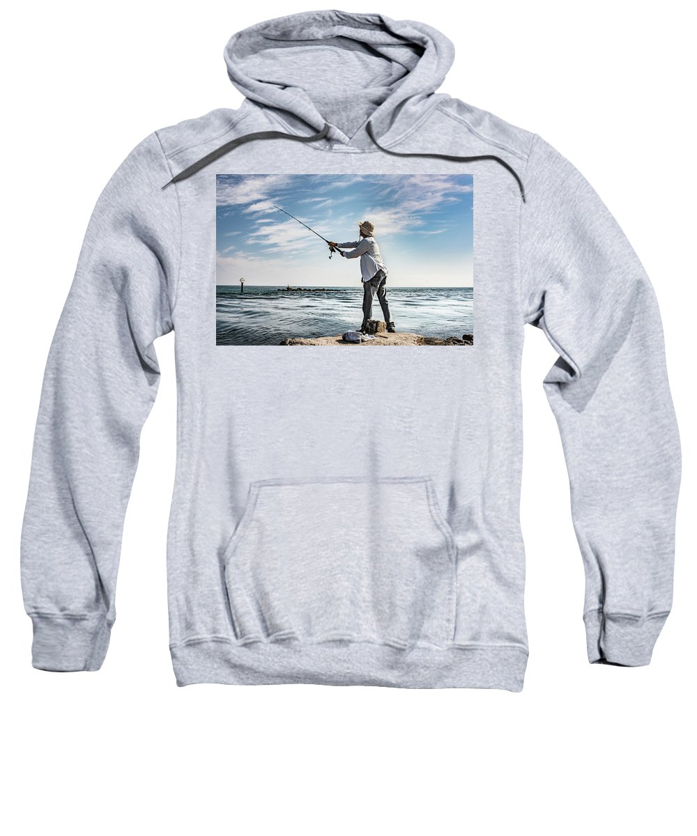 Fishing Sweatshirt featuring the photograph In Meditation by Stephen Gray