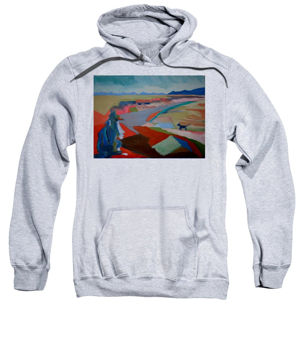 Abstract Sweatshirt featuring the painting In My Land by Francine Frank
