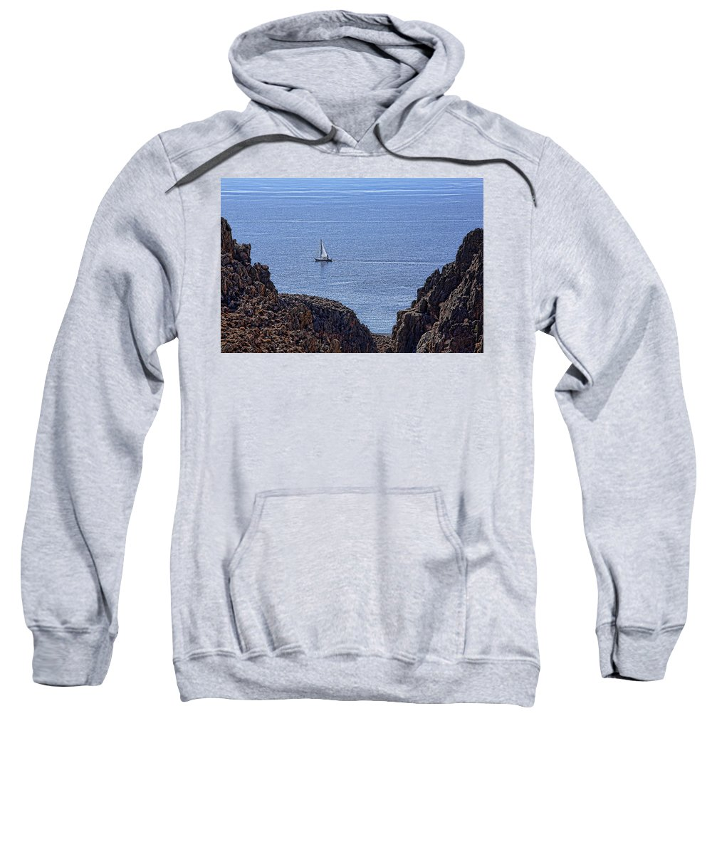Canyon Sweatshirt featuring the photograph In Search Of Atlantis-3 by Casper Cammeraat