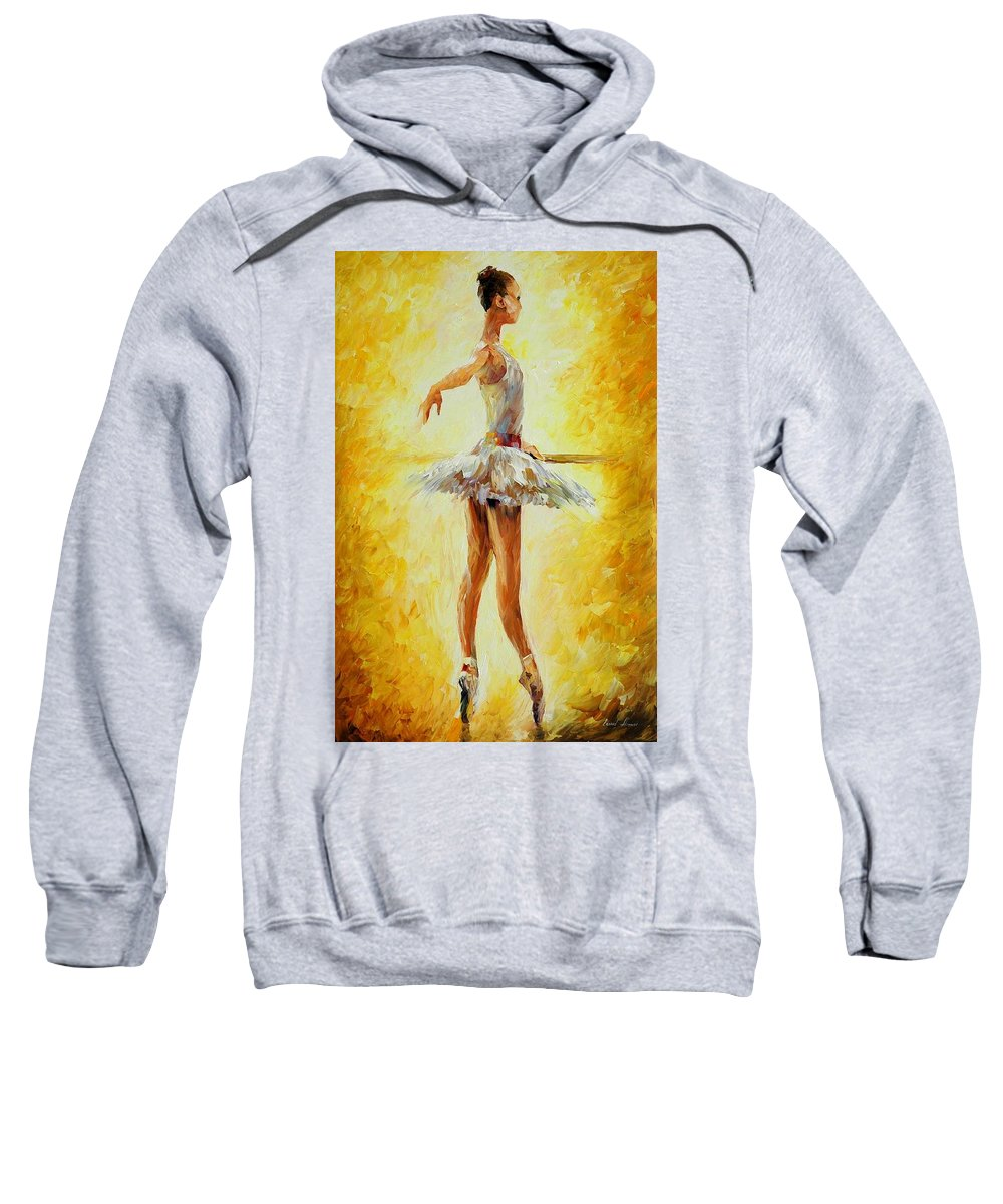 Afremov Sweatshirt featuring the painting In The Ballet Class by Leonid Afremov