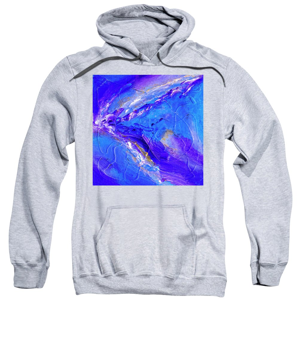 In The Blue Deep Sweatshirt featuring the painting In The Blue Deep by Dominic Piperata