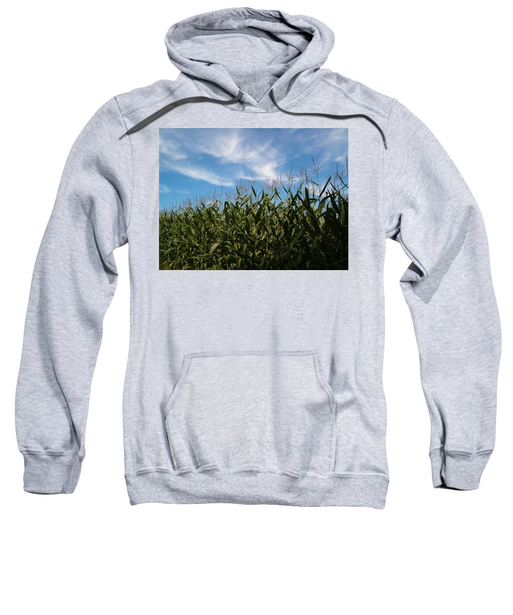 Farming Sweatshirt featuring the photograph In The Field by Sara Raber