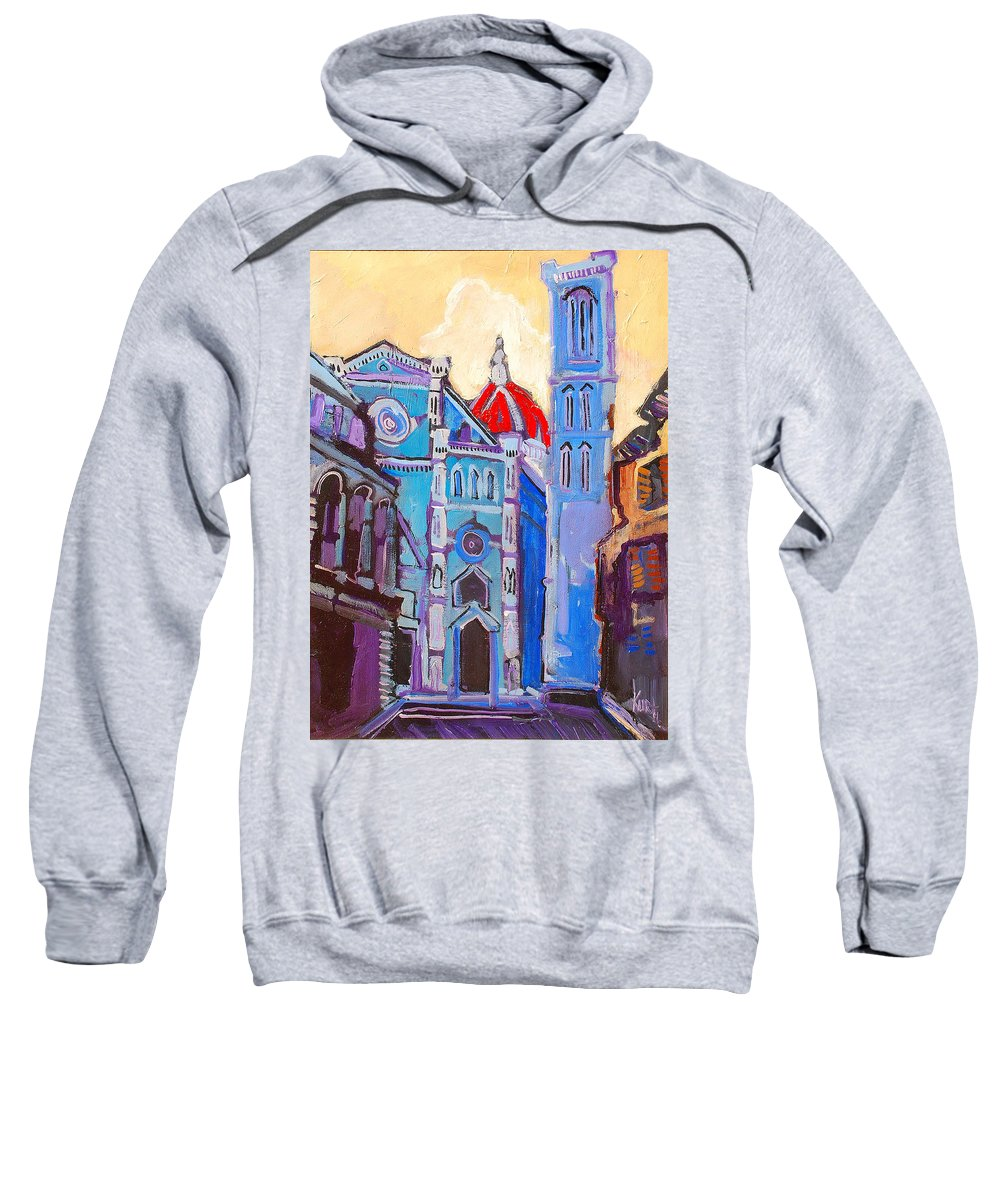 Florence Sweatshirt featuring the painting In The Middle Of by Kurt Hausmann
