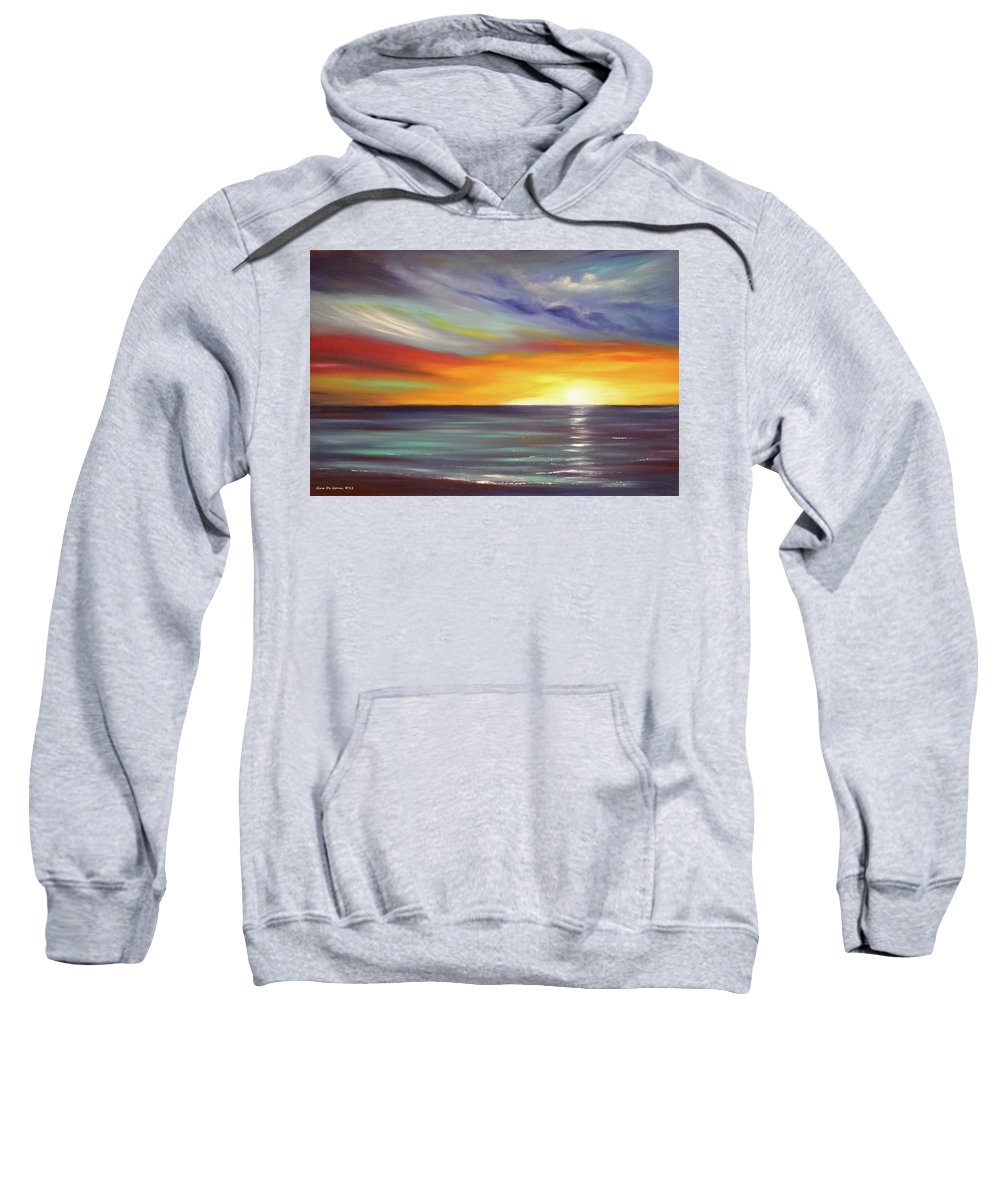 Brown Sweatshirt featuring the painting In The Moment by Gina De Gorna