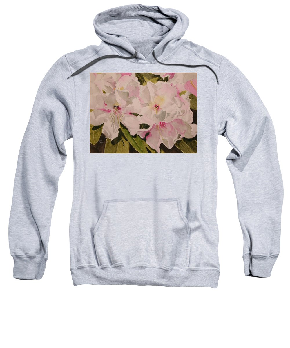 Pink Sweatshirt featuring the painting In The Pink by Jean Blackmer